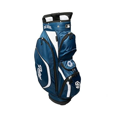 Team Golf MLB San Diego Padres Clubhouse Golf Cart Bag, Lightweight, 8-Way Top with Integrated Handle, 6 Zippered Pockets, Padded Strap, Towel Ring, U