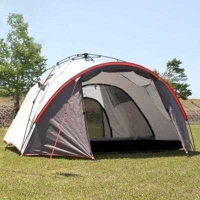 FSワンタッチテント 3人用 キャンプテント 前室付き 簡易テント 軽量 ドームテント 日除け 雨よけ 耐水圧3000mm アウトドア 代引不可