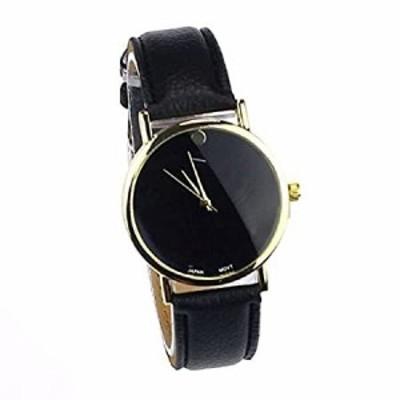 etopstechファッションユニバーサルレジャースポーツ時計レザー腕時計、ブラック、1pc