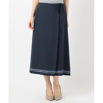 J.PRESS/ジェイプレス 【洗える】PANEL DOTS スカート ネイビー系5 7