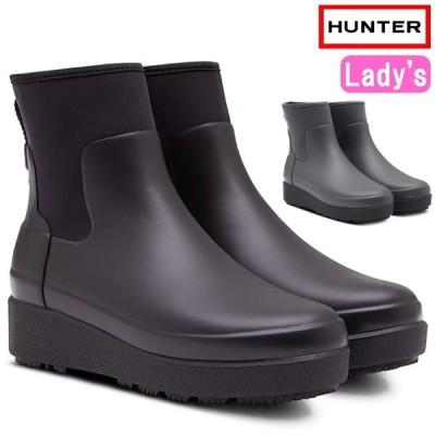 ハンター レインブーツ ショート レディース WFS2046NRE HUNTER 国内正規品 Womens Refined Neoprene Creeper Chelsea Boots リファインド クリーパー ネオ