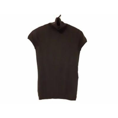 セオリー theory 半袖セーター サイズ2 S レディース ダークブラウン タートルネック【中古】20200229