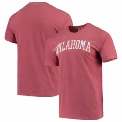 Image One イメージ ワン スポーツ用品  Oklahoma Sooners Crimson Comfort Colors Arch T-Shirt