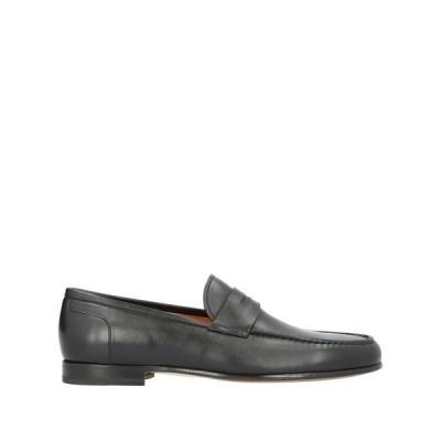 SANTONI モカシン ファッション  メンズファッション  メンズシューズ、紳士靴  モカシン ブラック
