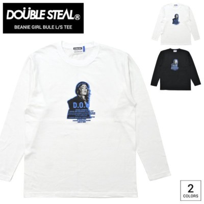 DOUBLE STEAL ダブルスティール ロンT BEANIE GIRL BLUE L/S T-SHIRT TEE Tシャツ 長袖 カットソー トップス 905-14087 単品購入の場合はネコポス便発送