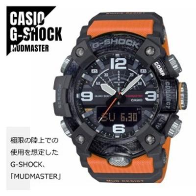 CASIO カシオ G-SHOCK Gショック MUDMASTER マッドマスター カーボン素材 GG-B100-1A9 ブラック×オレンジ 腕時計 メンズ 送料無料