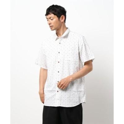 和柄総柄半袖プリントシャツ