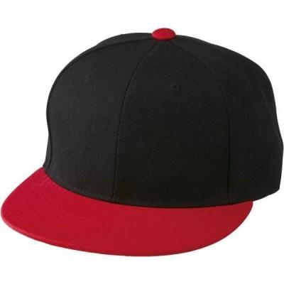 ユナイテッドアスレ カジュアル フラットバイザー スナップバック キャップ 20 ブラック/レッド 帽子(966401-2050)