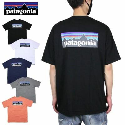 パタゴニア PATAGONIA Tシャツ 半袖Tシャツ メンズ レディース 大きいサイズ M s P-6 LOGO RESPOSIBILI-TEE 38504 ブラック ホワイト ネイビー