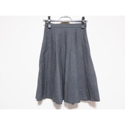 エムズグレイシー M'S GRACY スカート サイズ9 M レディース ダークグレー プリーツ【還元祭対象】【中古】20200630