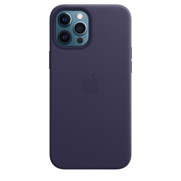 iPhone 12 Pro Max MagSafe 皮革保護殼 - 深紫羅蘭色