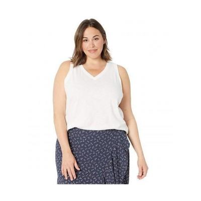 Madewell レディース 女性用 ファッション トップス シャツ Plus Size Whisper Cotton V-Neck Tank - Optic White