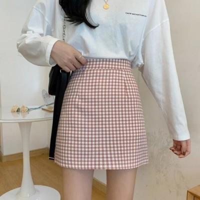 picknfit レディース スカート Slim fit check mini skirt