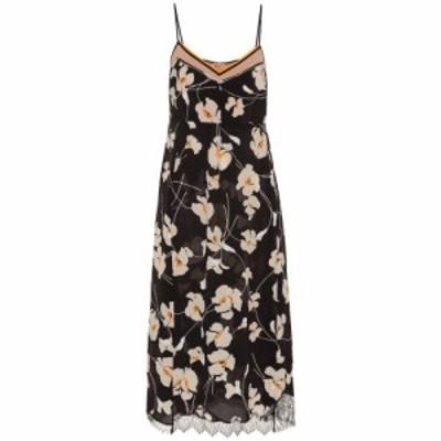 ヌメロ ヴェントゥーノ N21 レディース ワンピース スリップドレス ワンピース・ドレス Floral silk slip dress black
