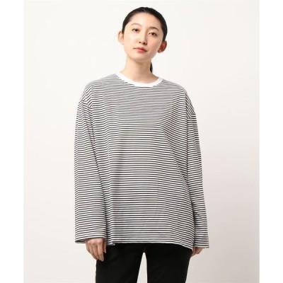 tシャツ Tシャツ 【URGE:】 ボーダープリント 長袖 ビッグ Tシャツ