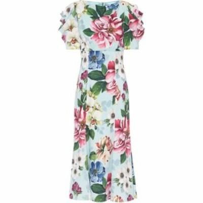 ドルチェandガッバーナ Dolce and Gabbana レディース ワンピース ミドル丈 ワンピース・ドレス Floral midi dress Fiori Ombre F Azzurr