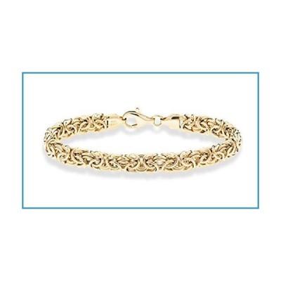 新品MiaBella 18K Gold Over Sterling Silver Italian Byzantine Bracelet for Women 6.5, 7, 7.5, 8 Inch 925 Handmade in Italy (6.5 Inches (5.5