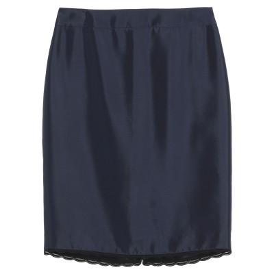 ブルマリン BLUMARINE ひざ丈スカート ダークブルー 42 アセテート 82% / シルク 18% ひざ丈スカート
