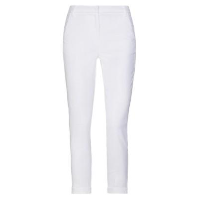 I BLUES パンツ ホワイト 38 コットン 54% / レーヨン 45% / ポリウレタン 1% パンツ