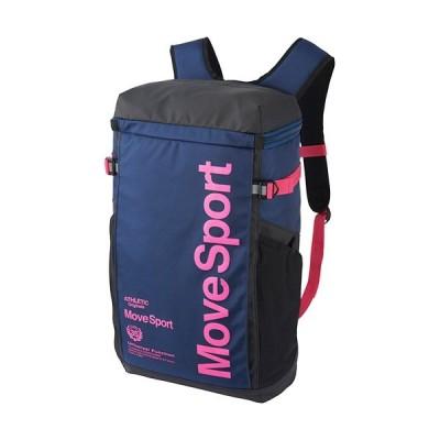 デサント(DESCENTE) スクエアバッグM ネイビー×ピンク DMAPJA04 NVPK バックパック リュックサック デイバッグ スポーツバッグ かばん 鞄 通勤通学