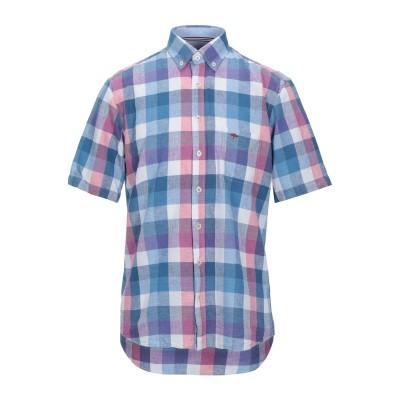FYNCH-HATTON® シャツ パステルブルー S リネン 55% / コットン 45% シャツ