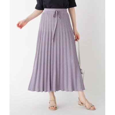 index / レーヨンナイロン柄プリーツニットスカート【WEB限定サイズ】 WOMEN スカート > スカート