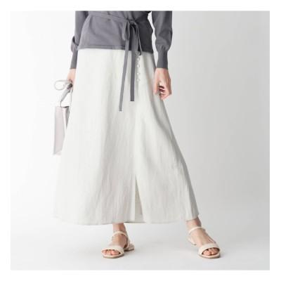 【オペークドットクリップ/OPAQUE.CLIP】 Liサイドボタンフレアスカート