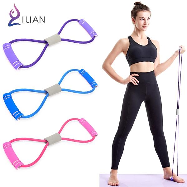 基礎初階款 ILIAN 8字瑜珈彈力繩 運動健身拉力繩 手臂、臀部、腿部 S曲線鍛鍊 力量訓練 伸展帶