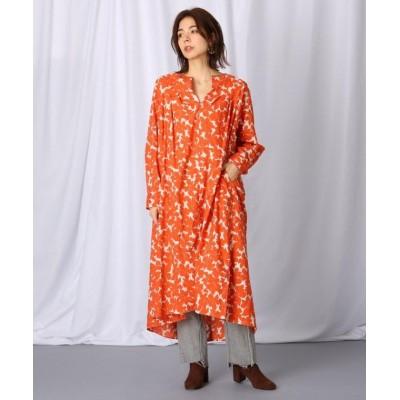 (JET/ジェット)【洗える】フラワーモチーフワンピース/レディース オレンジ(167)