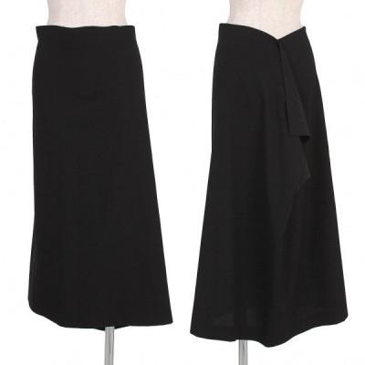 ヨウジヤマモト ファムYohji Yamamoto FEMME ウールギャバスクエアスカート 黒2 【レディース】