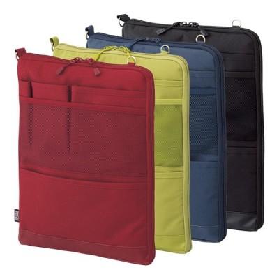バッグインバッグ タテ型 ポーチ キャリングポーチ ポシェット 携帯ケース トラベルグッズ Lサイズ 薄型 軽量 パスポート入れ 大きめ 小物入れ 文具小物セール