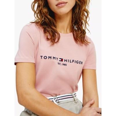 トミー ヒルフィガー シャツ レディース トップス Tommy Hilfiger Essential Organic Cotton Logo T-Shirt