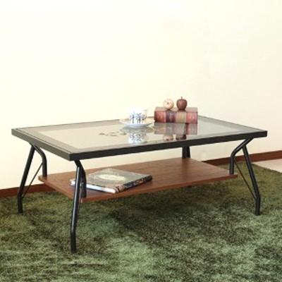 ガラステーブル 幅90cm センターテーブル 木製 天然木 突板 ローテーブル テーブル つくえ ( リビングテーブル ガラス 机 収納 ラック