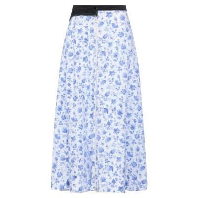 MARINE SERRE ロングスカート パステルブルー M 再生コットン 100% / ポリエステル ロングスカート