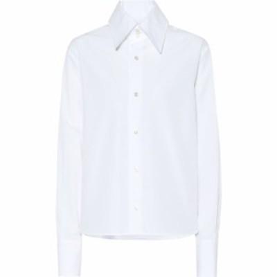 イヴ サンローラン Saint Laurent レディース ブラウス・シャツ トップス Cotton-poplin shirt White
