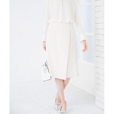 【アナイ】 バックサテンラップスカート レディース オフホワイト 36 ANAYI