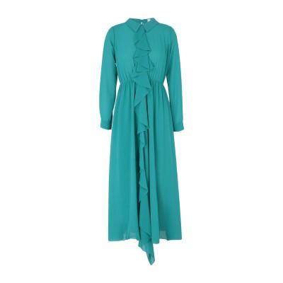 スーベニア SOUVENIR 7分丈ワンピース・ドレス グリーン XS ポリエステル 100% 7分丈ワンピース・ドレス