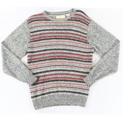 Weatherproof ウォータープルーフ ファッション トップス Weatherproof NEW Gray Red Mens Size Large L Crewneck Cotton Sweater