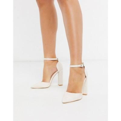 パブリックディザイア Public Desire レディース ヒール シューズ・靴 Sofia heeled shoe in white croc