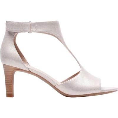 クラークス Clarks レディース サンダル・ミュール アンクルストラップ シューズ・靴 Alice Flame Ankle Strap Sandal Lavender Metallic Textile