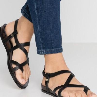 レディース サンダル T-bar sandals - black