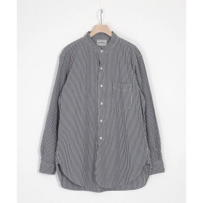 シャツ ブラウス [SPELLBOUND / スペルバウンド] ギンガムチェック バンドカラーシャツ
