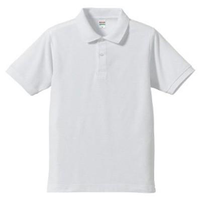 ユナイテッドアスレ カジュアルウェア 5.3オンスドライ CVC ポロシャツ 16 ホワイト ポロシャツ(505001-1)