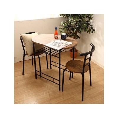 ダイニング ベランダ テーブル椅子 3点セット