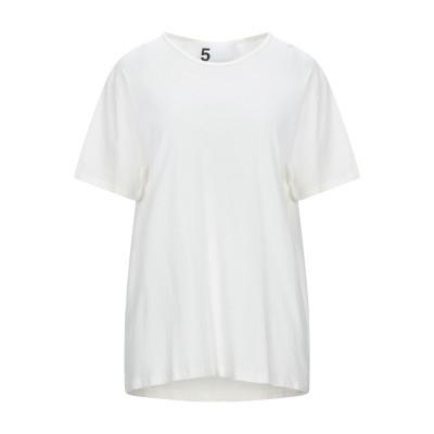 ファイブプレビュー 5PREVIEW T シャツ アイボリー XS オーガニックコットン 100% T シャツ