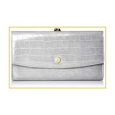 【☆送料無料☆新品・未使用品☆】[レガートラルゴ] 財布 LJ-G0842 クロコ型押し がま口長財布 ライトグ