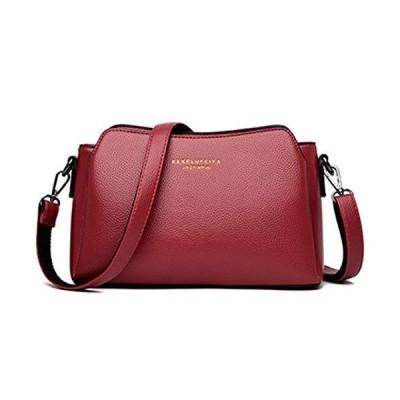 [Meruform] ショルダーバッグ レディース 斜めがけバッグ ハンドバッグ 肩掛け 女性用 (Red)