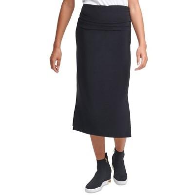 ダナ キャラン ニューヨーク スカート ボトムス レディース Ruched Midi Skirt Black
