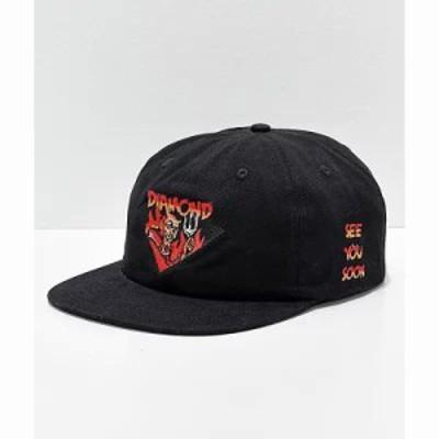 ダイアモンドサプライ キャップ Co. See You Soon Strapback Hat Black