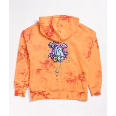 エンパイア EMPYRE レディース パーカー トップス Empyre Fredia Orange Tie Dye Hoodie Orange